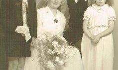 Anni und Hubert, links Walter, rechts Gertrud