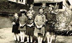 1964 v.li. vorn Erika Klappert, Monika Klein, Renate Holderberg, Dorothea Brühl, Resi Jaschke, hi. Maria Jaschke und Marianne Schmidt.